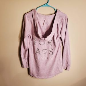 Victoria's Secret Bling Glitter Hoodie Size Small